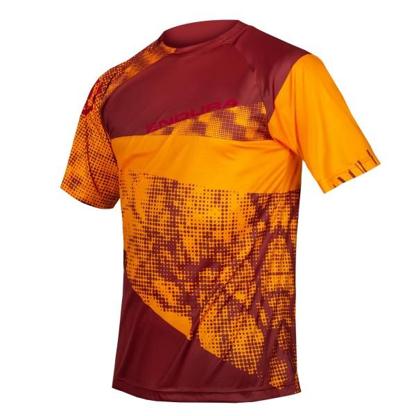 Endura SingleTrack Dots T-Shirt LTD,Mandarine