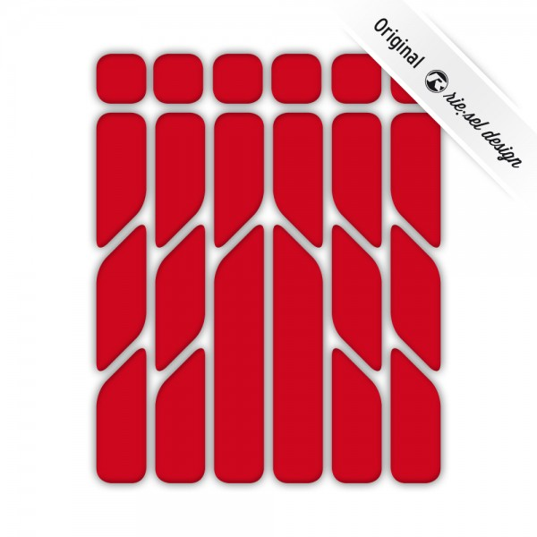 rie:sel design Reflektive Sticker re:flex red