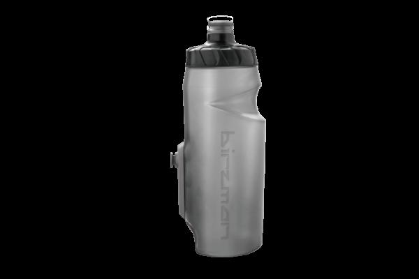 Birzman Bottle Cleat Wasserflasche incl. Cleat 650ml schwarz transparent