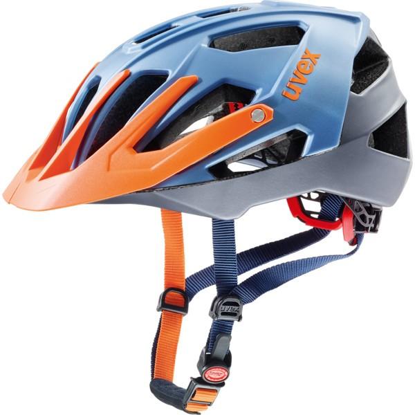 Uvex Quatro Helm blue-silver orange mat