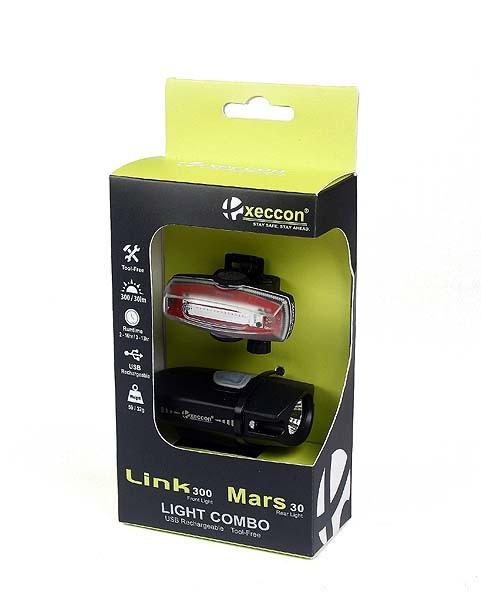 Xeccon Link 300 Front & Mars 30 Rear Set schwarz